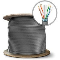 STP (Shielded Twisted Pair) Cat6 Pure Copper (OFC) cable Box (305 Meters)